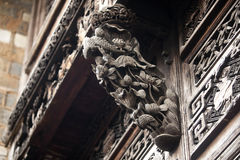 Chinese traditional wooden exterior walls Royalty Free Stock Images