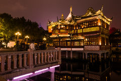 Chinese traditional Yuyuan Garden in Shanghai Royalty Free Stock Images