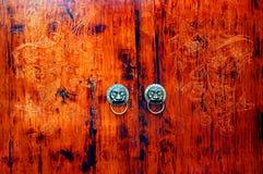 Chinese traditionele deur Stock Fotografie