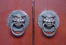 Chinese traditionele deur Royalty-vrije Stock Afbeeldingen