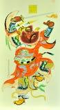 Chinese traditionele druk van strijder Royalty-vrije Stock Afbeeldingen