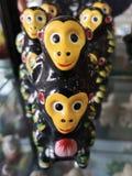 Chinese Traditionele Handcrfat, Porcelian-Aap stock afbeelding