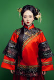 Chinese traditionele kleding geladen Xiu Royalty-vrije Stock Foto's