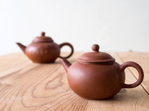 Chinese traditionele kleitheepot Royalty-vrije Stock Afbeelding