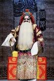 Chinese traditionele operaacteur met theatraal kostuum Stock Afbeeldingen