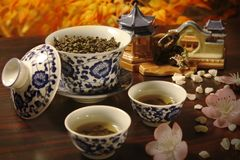 Chinese traditionele thee stock afbeelding
