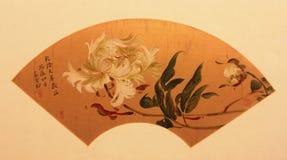 Chinese traditionele vouwende ventilator stock afbeeldingen