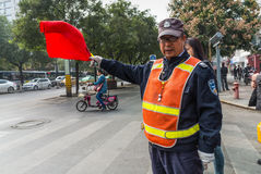 Chinese Traffic Warden - Xian, China Royalty Free Stock Photo