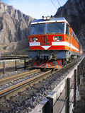 Chinese train. A running train on a bridge in china Stock Photos