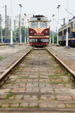 Chinese  train staying on the station Stock Photography