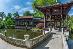 Chinese tuin in Frankfurt Royalty-vrije Stock Foto