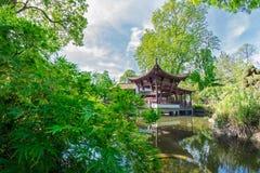 Chinese tuin in Frankfurt Royalty-vrije Stock Foto's