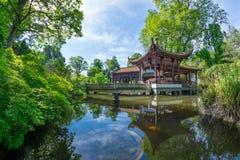 Chinese tuin in Frankfurt Royalty-vrije Stock Afbeeldingen