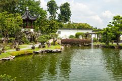 Chinese tuin, Singapore Royalty-vrije Stock Foto