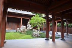 Chinese tuin Zen Stock Foto