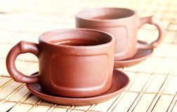 Chinese two cups and tea Stock Images