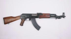 Chinese Type 56 assault rifle. Kalashnikov. Chinese Type 56 assault rifle with folded bayonet. Based on the Kalashnikov AK47 weapon this pattern is widely Stock Photo