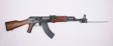 Chinese Type 56 Kalashnikov with bayonet Royalty Free Stock Images