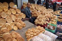 Chinese Uighur street vendor stock images
