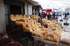 Chinese Uighur street vendor Stock Images