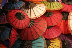 Chinese umbrella in mix color Royalty Free Stock Images