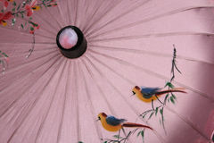 Chinese Umbrella Painting Royalty Free Stock Images