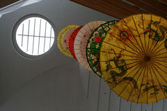 Chinese umbrellas Royalty Free Stock Images
