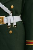 Chinese uniform detail. Details of a Chinese army uniform Royalty Free Stock Photo