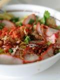 Chinese varkensvleesnoedels Stock Foto's