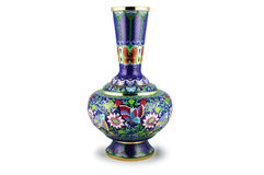 The Chinese vase. Stock Image