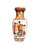 Chinese Vase. Decorated colorful Antique Chinese Vase Royalty Free Stock Photography