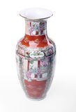 Chinese vase. Isolated over white - Rear view Royalty Free Stock Photography