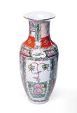 Chinese vase. Isolated over white - Front view Stock Photo