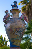 Chinese Vase. Vase  In the national park Sama Cambrills - Spain Stock Images