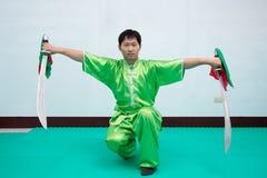 Chinese vechtsporten Stock Foto's
