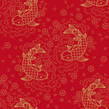 Chinese vector seamless pattern. With Koi Fish Royalty Free Stock Photos