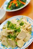 Chinese vegetarian bean curd cuisine Royalty Free Stock Photos