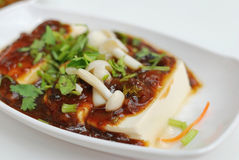 Chinese vegetarian bean curd delicacy Royalty Free Stock Image