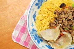 Chinese Vegetarian Dumpling Noodles Stock Photography