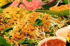 Vegetarian traditional street food. Chinese vegetarian festival in Bangkok Thailand, Asia. Vegetarian traditional street food royalty free stock image