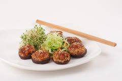 Chinese Vegetarian Mushroom Dish Stock Photos