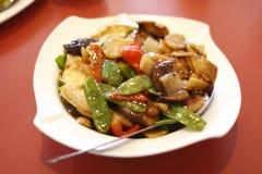 Chinese vegetarische tofu schotel. stock fotografie