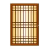 Chinese venster geïsoleerde illustratie Stock Afbeeldingen