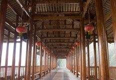 Chinese  Vernacular gallery Royalty Free Stock Photos