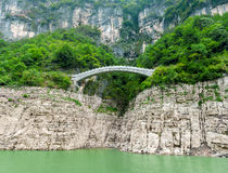 Chinese view of the mountains and the bridge Royalty Free Stock Images