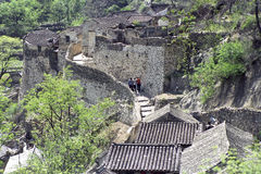 Chinese village. The traditional chinese residence houses are made of stone in Chuandixia village, the east of Beijing stock photo