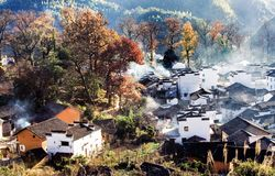 Chinese village. This is a village in china Stock Photo