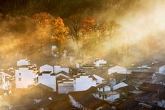 Chinese village. This is a beautiful village in china Royalty Free Stock Photography