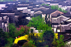 Chinese village. This is a very beautiful chinese village royalty free stock photo