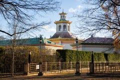 Chinese village in Alexander Park, Tsarskoye Selo royalty free stock photos